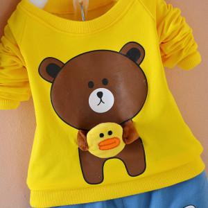 Trening bebelusi cu bluza galbena - Teddy