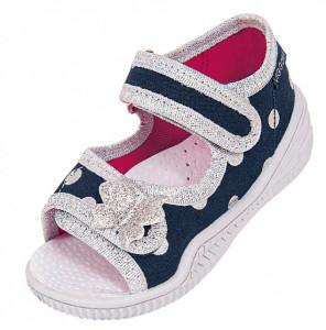 Sandalute pentru fetite - Fluturasul argintiu