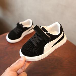 Adidasi negri cu alb pentru copii
