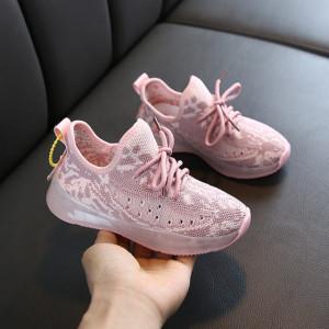 Adidasi roz cu model roz somon