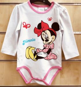 Body bebelusi alb Love Minnie-Colectia Disney