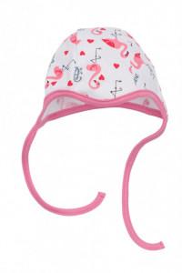Caciulita pentru bebelusi - Colectia Flamingo