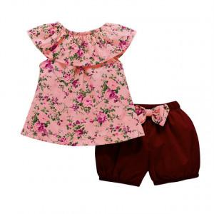 Costumas cu pantaloni bufanti pentru fetite