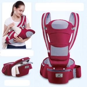 Marsupiu ergonomic visiniu cu scaunel