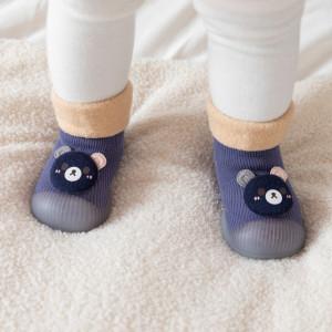 Mocasini bleumarine cu talpa antiderapanta - Ursulet