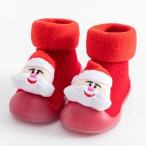 Mocasini cu talpa antiderapanta - Santa Claus