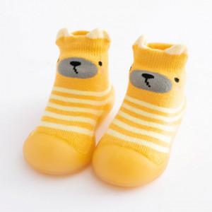 Mocasini cu talpa antiderapanta - Yellow teddy