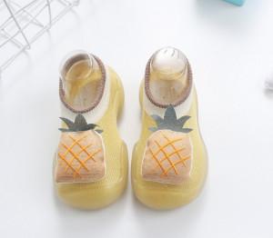 Mocasini galben mustar cu talpa antiderapanta - Fructe delicioase