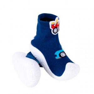 Mocasini pentru copii cu talpa antiderapanta - Masinute de curse 2