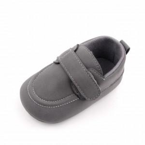 Pantofi eleganti gri cu bareta
