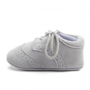 Pantofiori eleganti baieteti gri