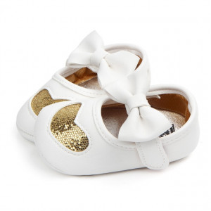 Pantofiori fetite - Inimioara sclipitoare aurie