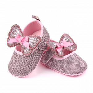 Pantofiori roz pentru fetite - Fluturas