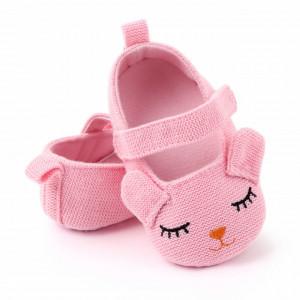 Pantofiori roz pentru fetite - Ursulet