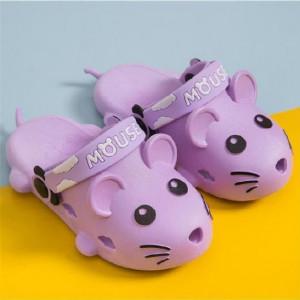 Papuci din cauciuc pentru fetite - Soricelul mov
