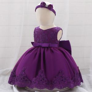 Rochita ocazie cu dantela - Purple