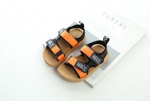 Sandale pentru copii cu barete portocalii