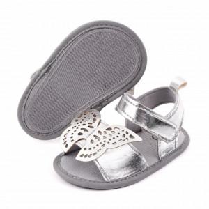 Sandalute argintii pentru fetite - Fluturasul dantelat