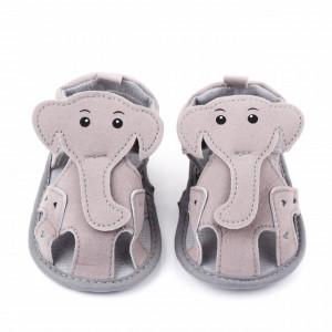 Sandalute gri pentru baietei - Elefantelul