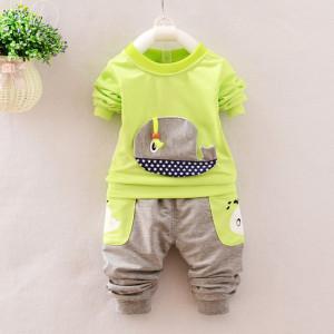 Trening bebelusi cu bluza verde neon - Balenuta