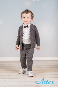 Costum elegant pentru bebelusi - Grey Style