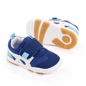 Adidasi albastri cu insertii albe