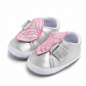Adidasi argintii pentru fetite - Fluturas