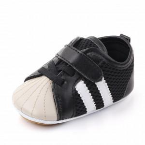 Adidasi bebelusi negru cu crem