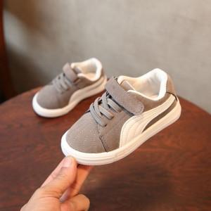 Adidasi gri cu alb pentru copii