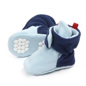Botosei bleu cu bleumarine plusati pentru bebelusi