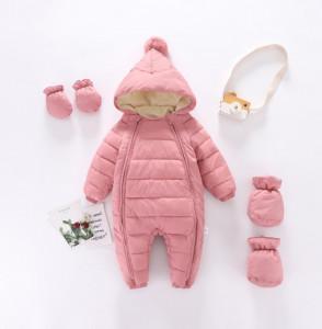 Combinezon roz pudra din fas pentru copii