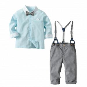 Costum bebelusi cu camasuta si bretele