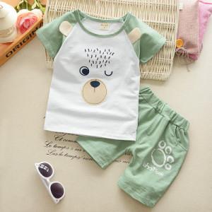 Costum bebelusi cu pantalonasi si tricou - Bear