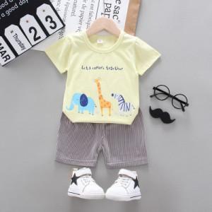 Costum bebelusi cu tricou galben - Safari