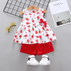 Costumas pentru fetite - Ananas rosu
