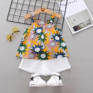 Costumas pentru fetite - Flori colorate