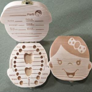 Cutiuta pentru primii dintisori si suvita de par pentru fetite