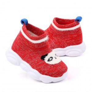 Mocasini tip adidas rosii - Panda