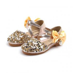 Pantofi eleganti aurii - Diamond shoe