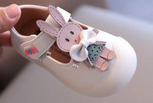 Pantofi ivoire pentru fetite - Iepurila