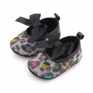 Pantofiori cu strasuri colorate - Leopard