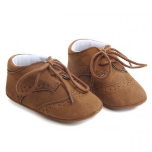 Pantofiori eleganti baieteti maro