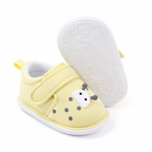 Pantofiori galbeni pentru fetite - Buburuza
