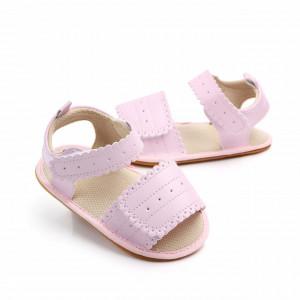 Sandale fetite roz cu bareta cu arici