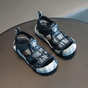 Sandale pentru baietei - Grey army