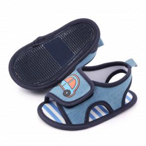 Sandalute din blugi pentru baietei - Masinuta