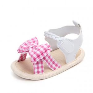 Sandalute fetite - Fundita cu carouri roz