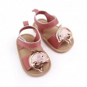 Sandalute roz pudra pentru fetite - Delfinul auriu