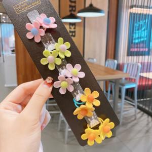 Set de 10 elastice pentru par - Flowers