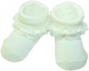 Sosetele fetite ivoire cu danteluta din tulle